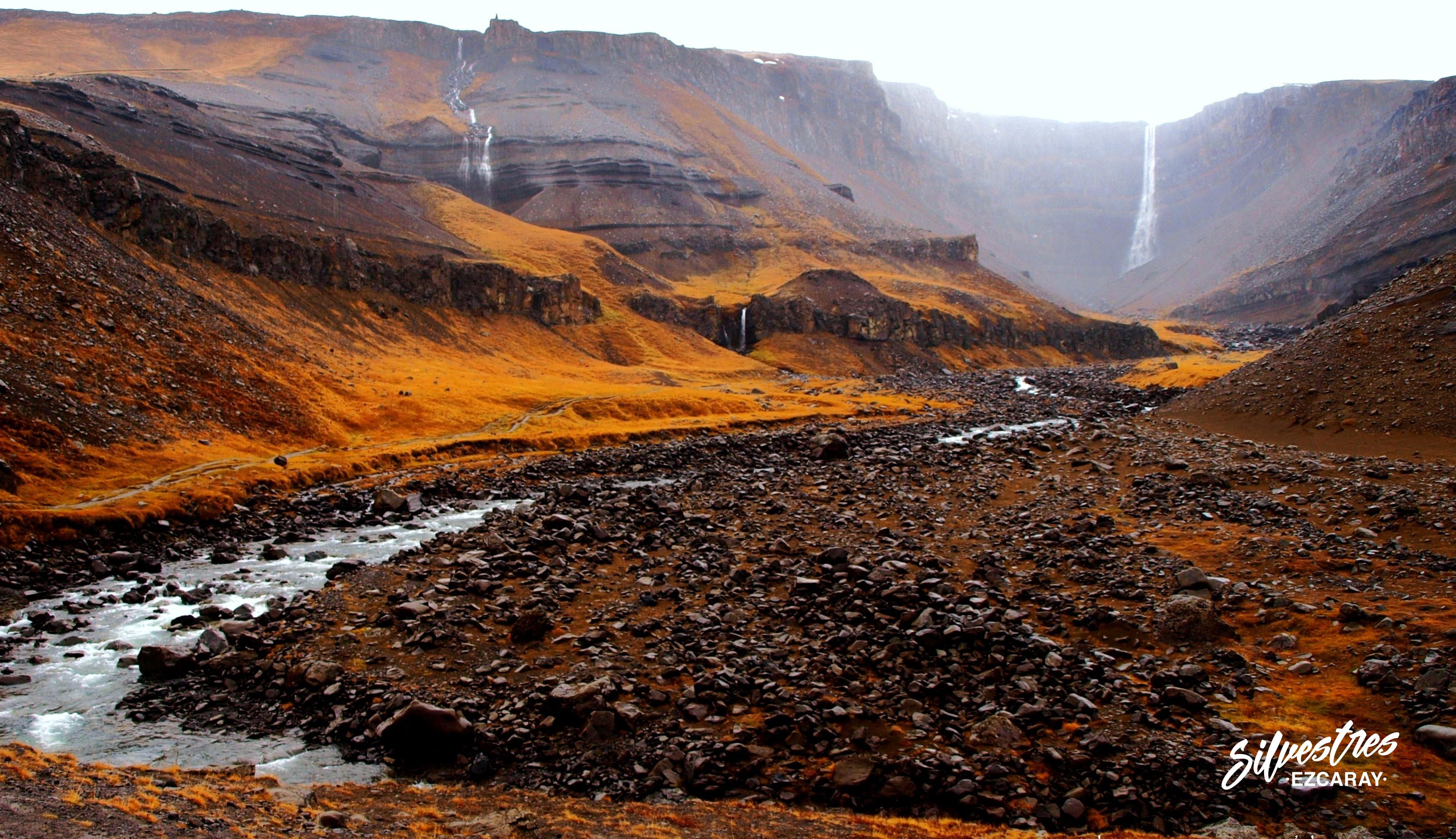 cascada_hengifoss_sendero_trail_islandia_waterfall_fotos_hikking