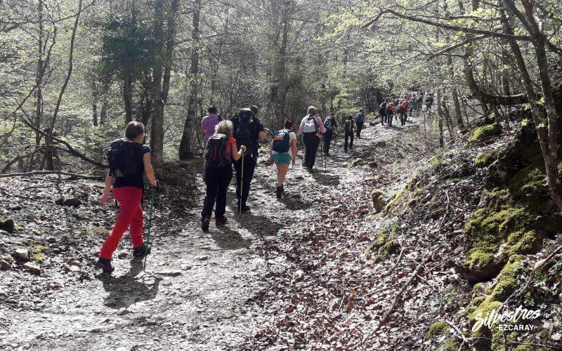 clubes_montaña_jornadas_senderismo_sierra_entzia_álava_puerto_andoin_la_tobería