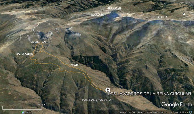 ruta_track_imagen_3d_lavaderos_reina_sierra_nevada_google_earth