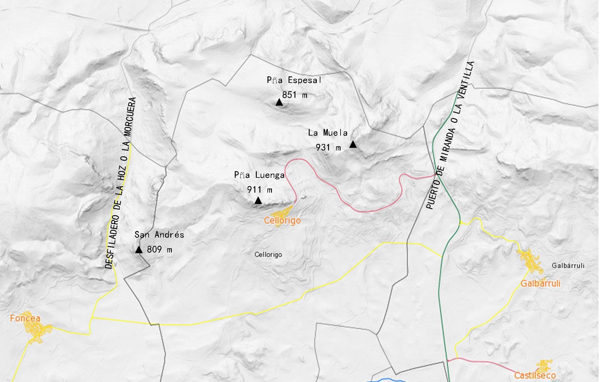 mapa_peñas_cellorigo_peña_luenga_obarenes_guia_montaña_recorridos_la_rioja