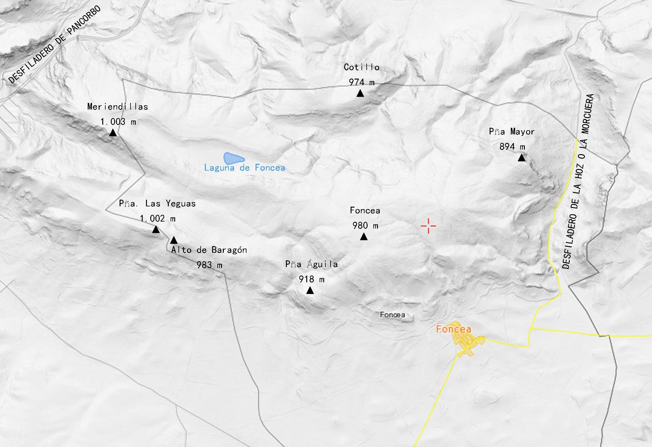 mapa_relieve_monte_foncea_obarenes_guia_montaña_la_rioja
